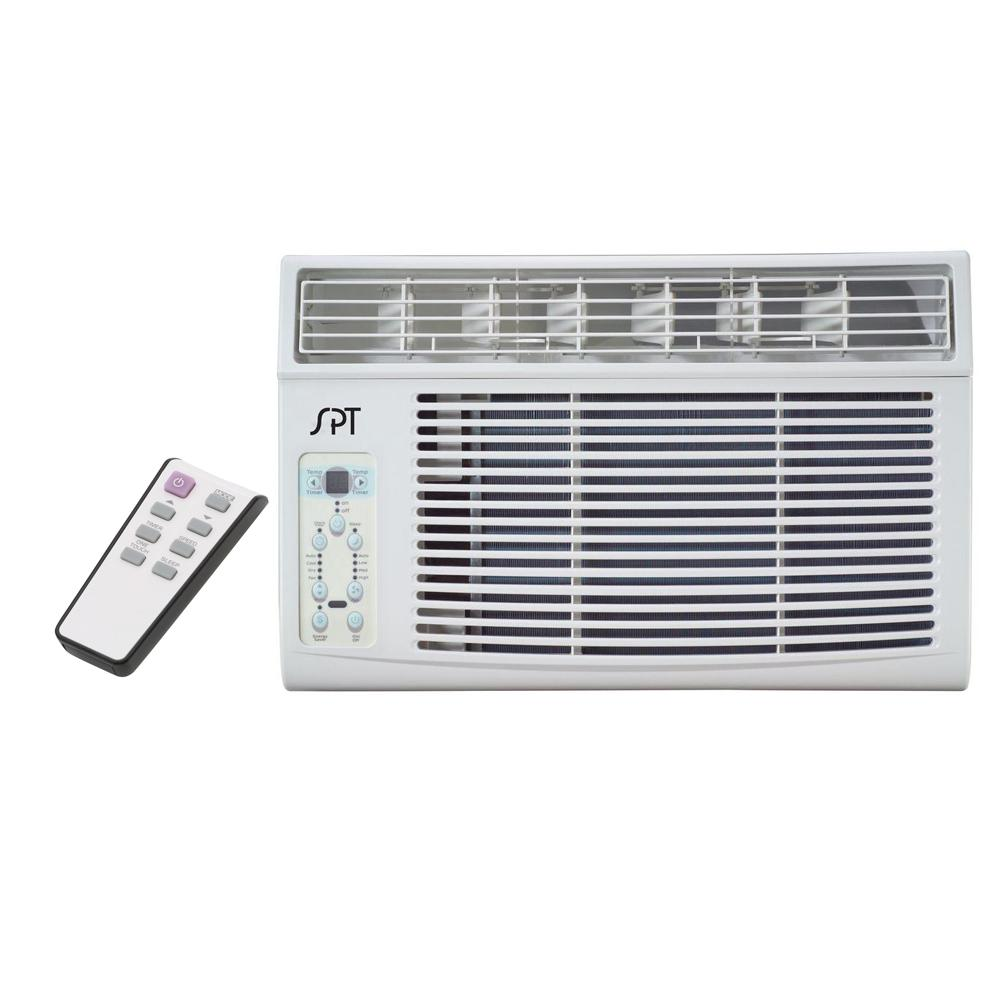 SPT 12,000 BTU Window Air Conditioner with Remote Perfect for cooling down a single room or studio. Window kit supplied for left and right side of unit - ideal for vertical opening windows. User-friendly controls and remote. Easy to remove washable air filter with helpful reminder.