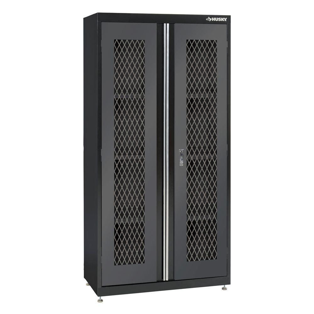 Husky 72 in. H x 36 in. W x 18 in. D Welded  sc 1 st  Home Depot & Husky 72 in. H x 36 in. W x 18 in. D Welded Metal Mesh Door Front Floor Cabinet
