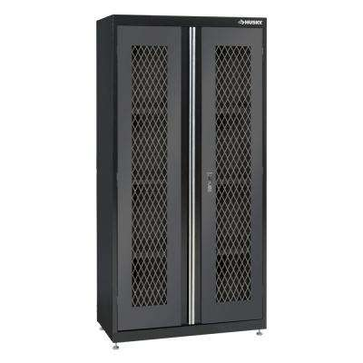72 in. H x 36 in. W x 18 in. D Welded Metal Mesh Door Front Floor Cabinet