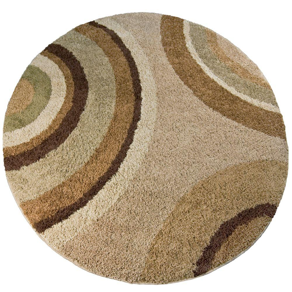 Orian Rugs Eclipse Green Tea 7 ft. 10 in. Round Area Rug