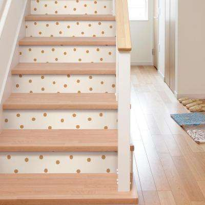 28.18 sq. ft. Gold Dots Peel and Stick Wallpaper