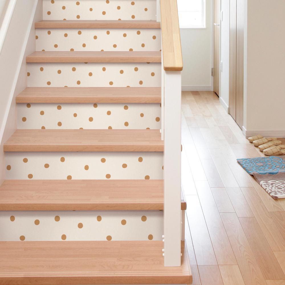 28.18 sq. ft. Gold Dots Peel and Stick Wallpaper