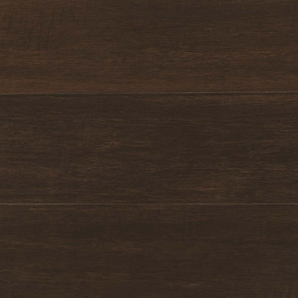 Home Decorators Collection Hand Scraped Strand Woven Dark Mahogany 3 8 In T X 5 1 8 In W X 36
