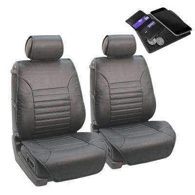PU Leather 47 in. x 23 in. x 1 in. Multi-Functional Quilted Front Seat Cushions