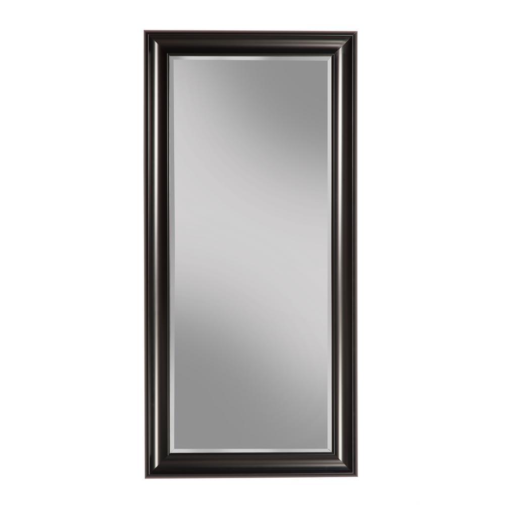 Black Full Length Leaner Floor Mirror