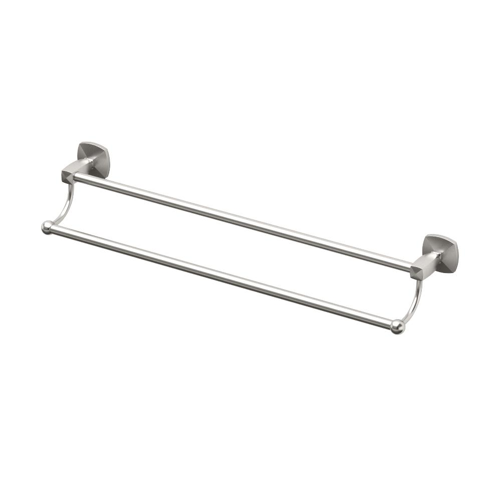 Gatco Jewel 24 in. Towel Bar in Satin Nickel