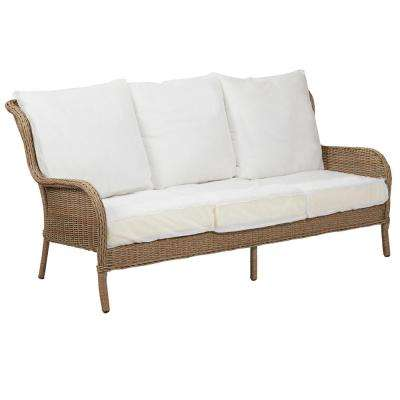 Lemon Grove Custom Wicker Outdoor Sofa with Cushions Included, Choose Your Own Color