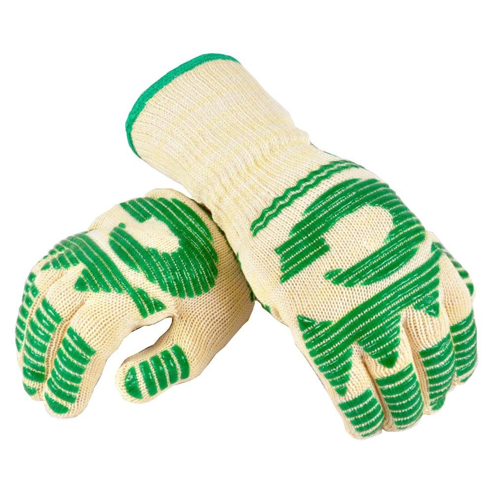 G & F Large 5 in. Finger Made of Nomex with Heat Stand upto 480 DegreeF Oven Gloves (2 Gloves Value Pack)