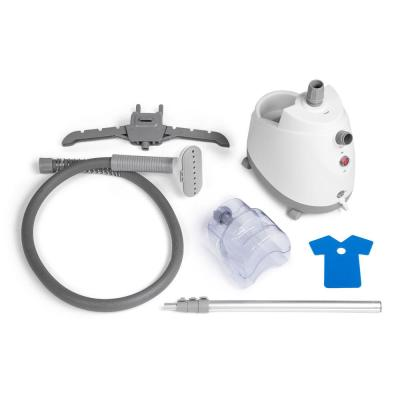 Compact Garment Steamer For Home 360° Multi-Hook Swivel Hanger with a 1.6 l Water Tank in White
