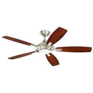 brushed nickel indoor led ceiling fan20314 the home depot - Ceiling Fans