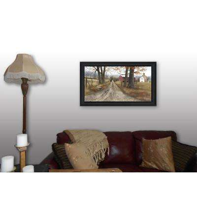 "18 in. x 32 in. ""The Road Home"" by Billy Jacobs Printed Framed Wall Art"