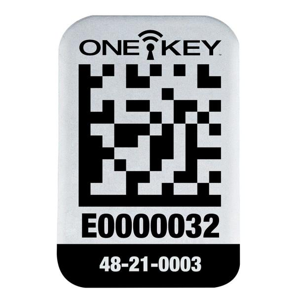 Small ONE-KEY Asset ID Tags For Metal Surfaces (100-Tags)