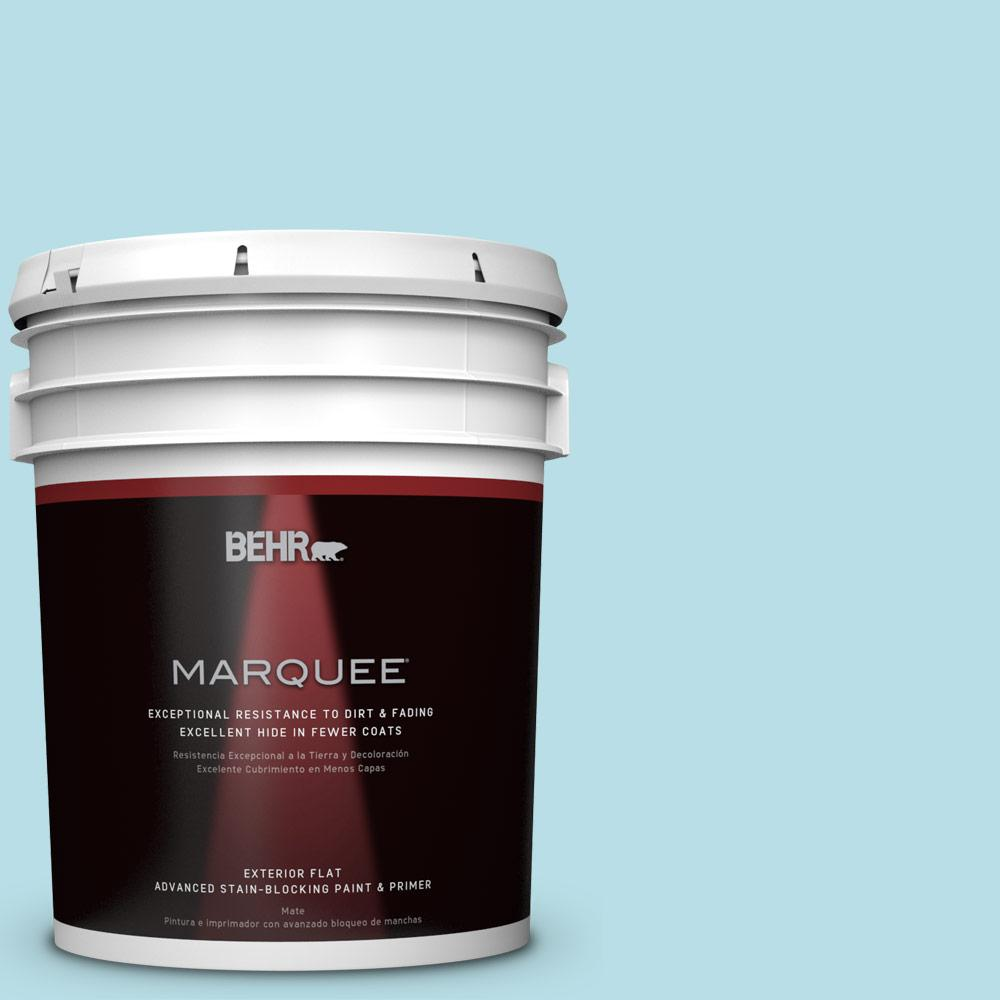 BEHR MARQUEE 5-gal. #M470-2 Basin Blue Flat Exterior Paint
