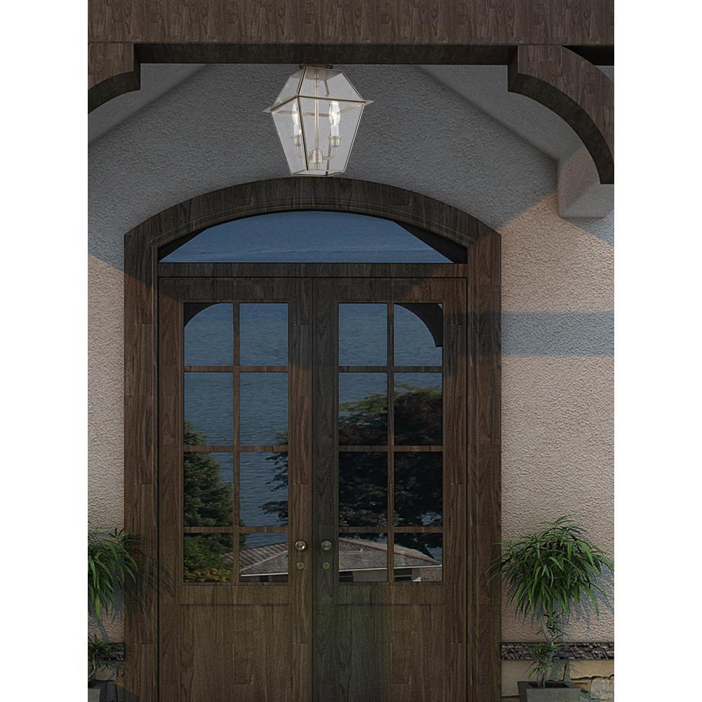 Westover Brushed Nickel 2-Light Outdoor Hanging Lantern