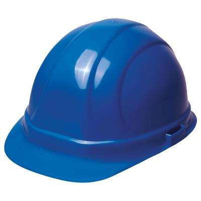 Omega II 6 Point Nylon Suspension Slide-Lock Cap Hard Hat in Blue