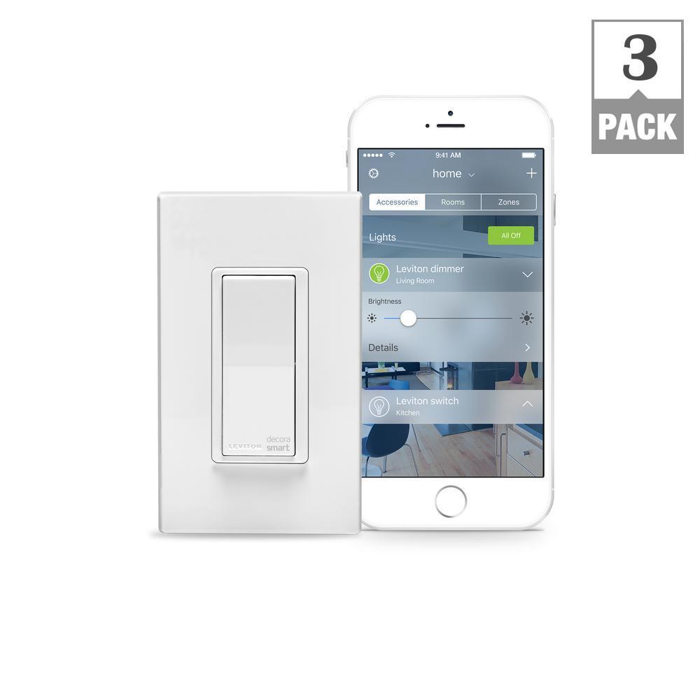 Leviton 15 Amp Decora Smart with HomeKit Technology Switch, Works ...