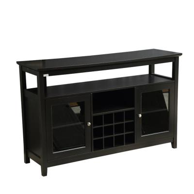 51.8 in. W x 15.6 in. D x 32.8 in. H Black Wood TV Stand Fits TVs Up to 52 in. with No Additional Features