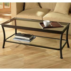 Fantastic Mendocino Clear And Deep Bronze Black Coffee Table Theyellowbook Wood Chair Design Ideas Theyellowbookinfo
