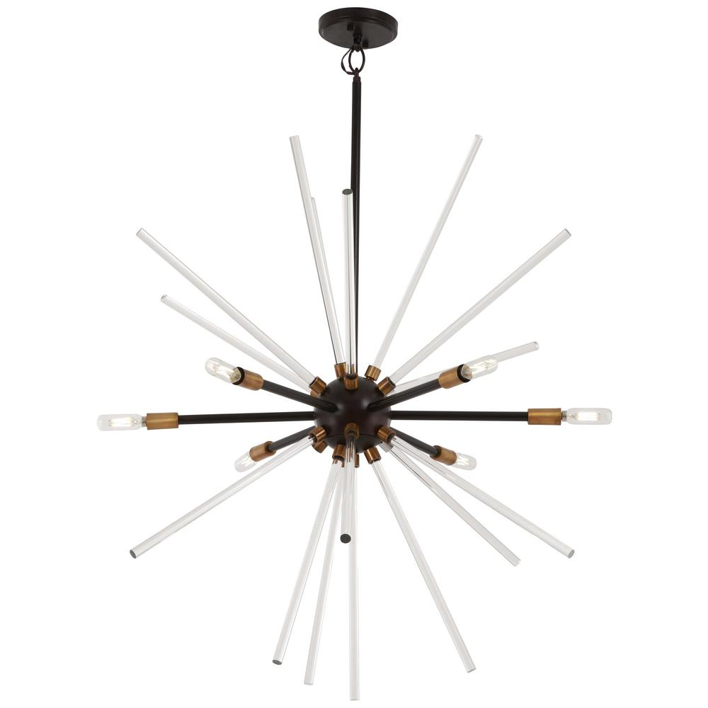 George kovacs spiked 6 light painted bronze with natural brushed george kovacs spiked 6 light painted bronze with natural brushed brass pendant aloadofball Choice Image