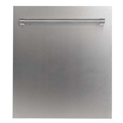 24 in. Top Control Dishwasher in Stainless Steel with Stainless Steel Tub and Traditional Style Handle