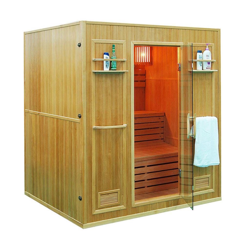 4-Person Canadian Red Cedar Electric Heater Sauna