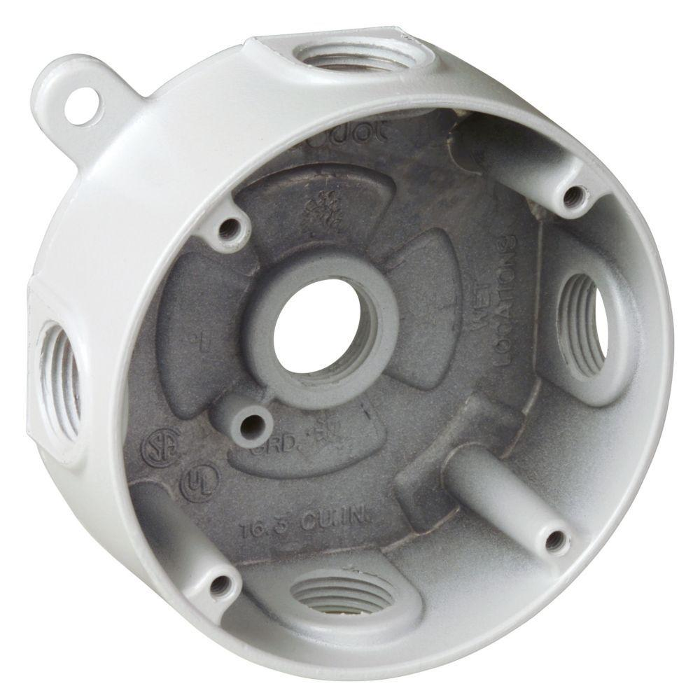 Round Weatherproof Electrical Box With 5 1 2 In Holes
