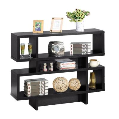 Contemporary Style Black Sofa Console Display Cabinet