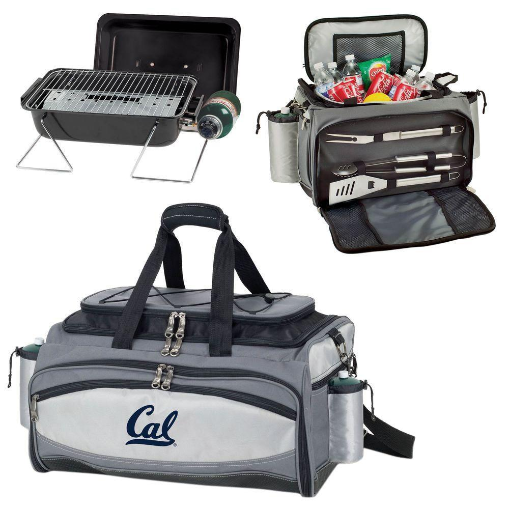 Picnic Time Vulcan Cal Berkley Tailgating Cooler and Propane Gas Grill Kit with Digital Logo