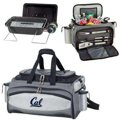 Vulcan Cal Berkley Tailgating Cooler and Propane Gas Grill Kit with Digital Logo
