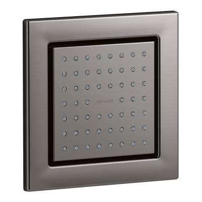 WaterTile 4-7/8 in. Square 54-Nozzle Body Spray with Soothing Spray in Vibrant Titanium