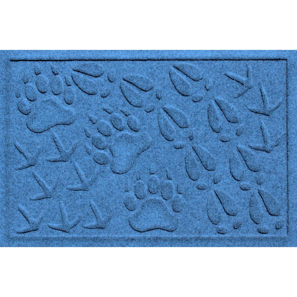 Aqua Shield Animal Tracks Medium Blue 17.5 in. x 26.5 in.