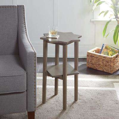 Zoey Gray Stain Starburst Accent Table