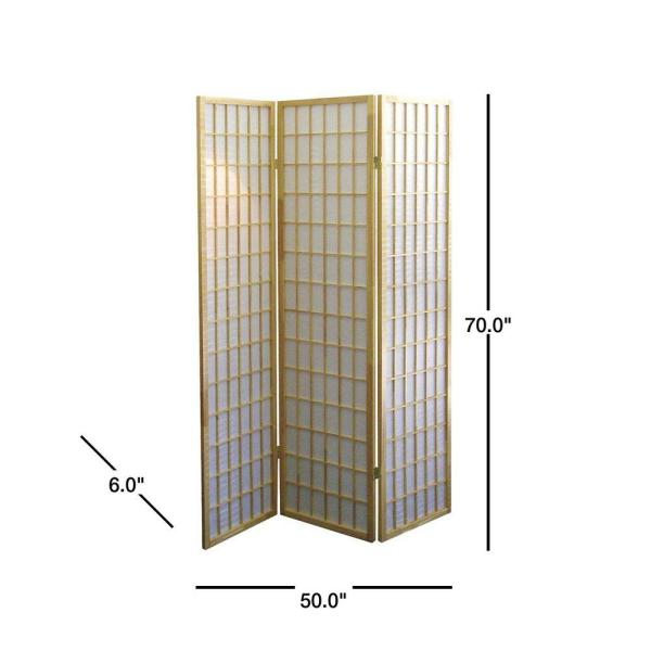 Unbranded 5 83 Ft Natural 3 Panel Room Divider R531 The Home Depot