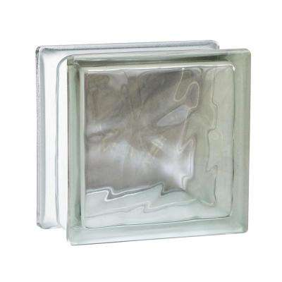 Nubio 5.75 in. x 5.75 in. x 3.875 in. Wave Pattern Glass Block (8-Pack)