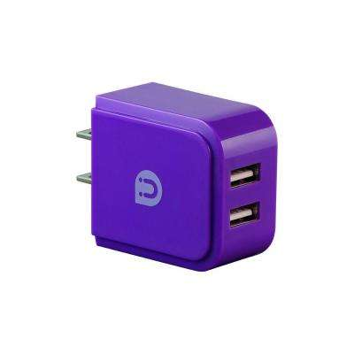 2.0 - 2.4 Amp AC USB Adapter, Purple