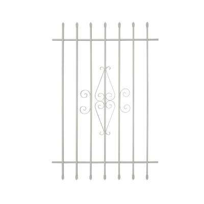 36 in. x 54 in. Spear Point 7-Bar Security Bar Window Guard, White