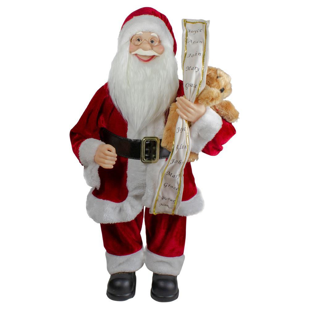 2 ft. Standing Santa Christmas Figure with a Naughty or Nice List