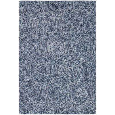 Galaxy Blue/Ivory 8 ft. x 11 ft. Indoor Area Rug
