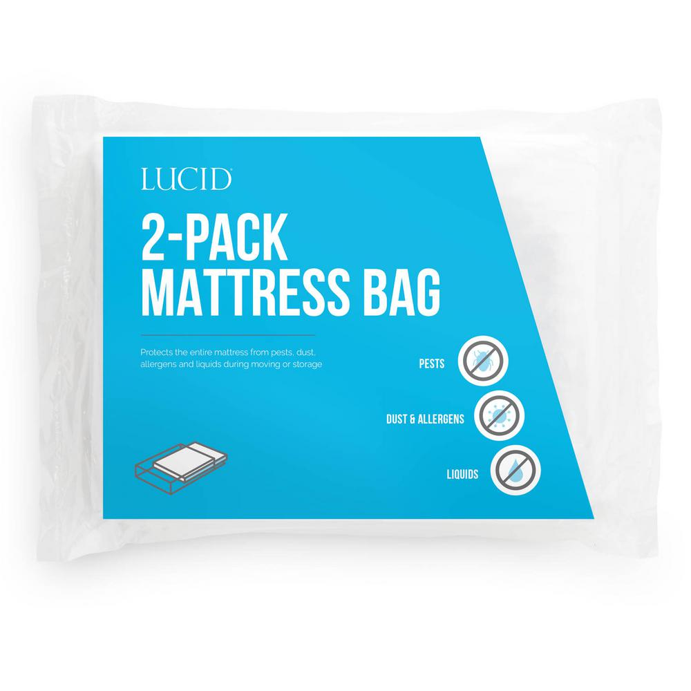 LUCID Twin XL Mattress Moving and Storage Bags (Pack of 2 ...