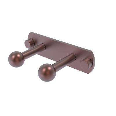 Prestige Skyline Collection 2 Position Multi Peg Robe Hook in Antique Copper