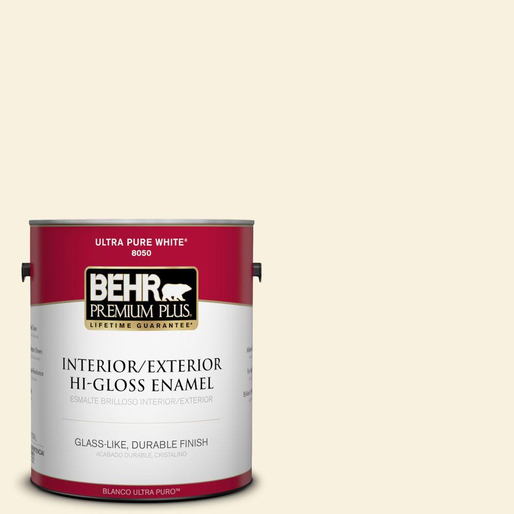 BEHR Premium Plus 1-gal. #M320-1 Painter's Canvas Hi-Gloss Enamel Interior/Exterior Paint