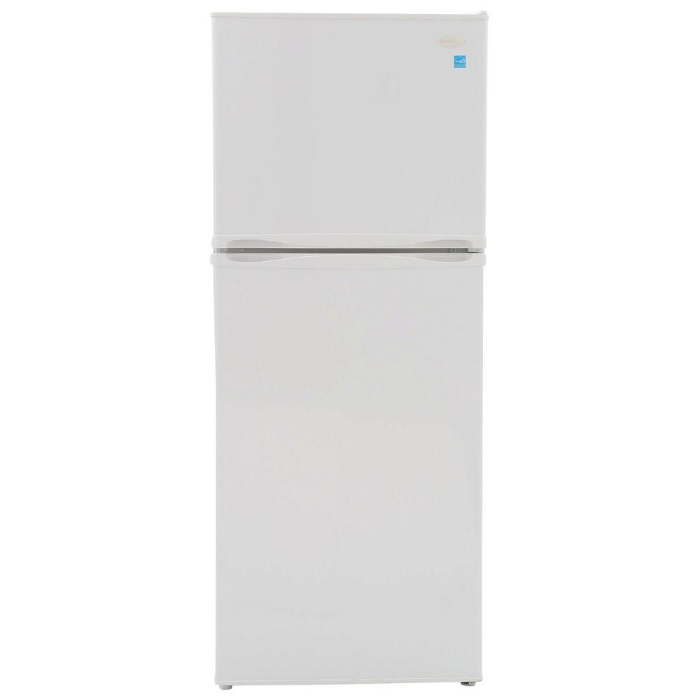 Top Freezer Refrigerator In White, Cabinet Depth