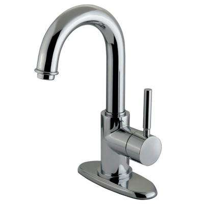 Euro Single Hole Single-Handle Bathroom Faucet in Polished Chrome
