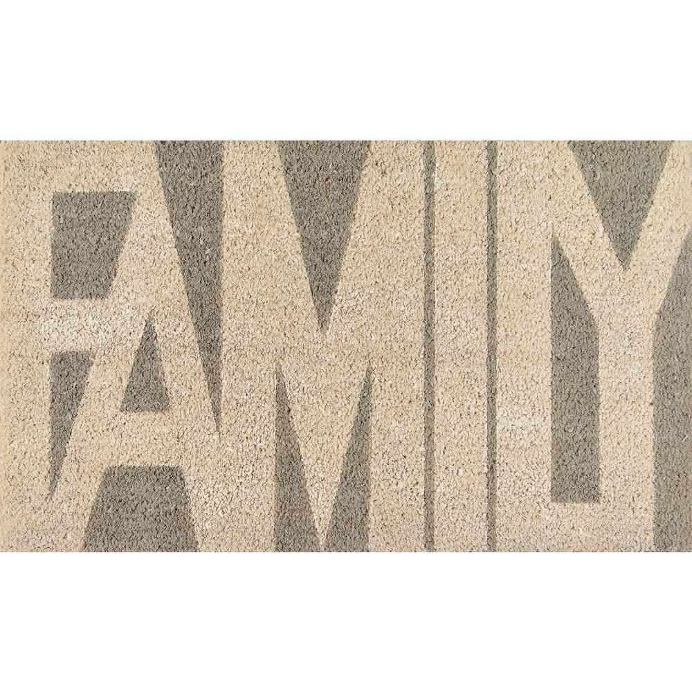 Family Grey 18 in. x 30 in. Door Mat