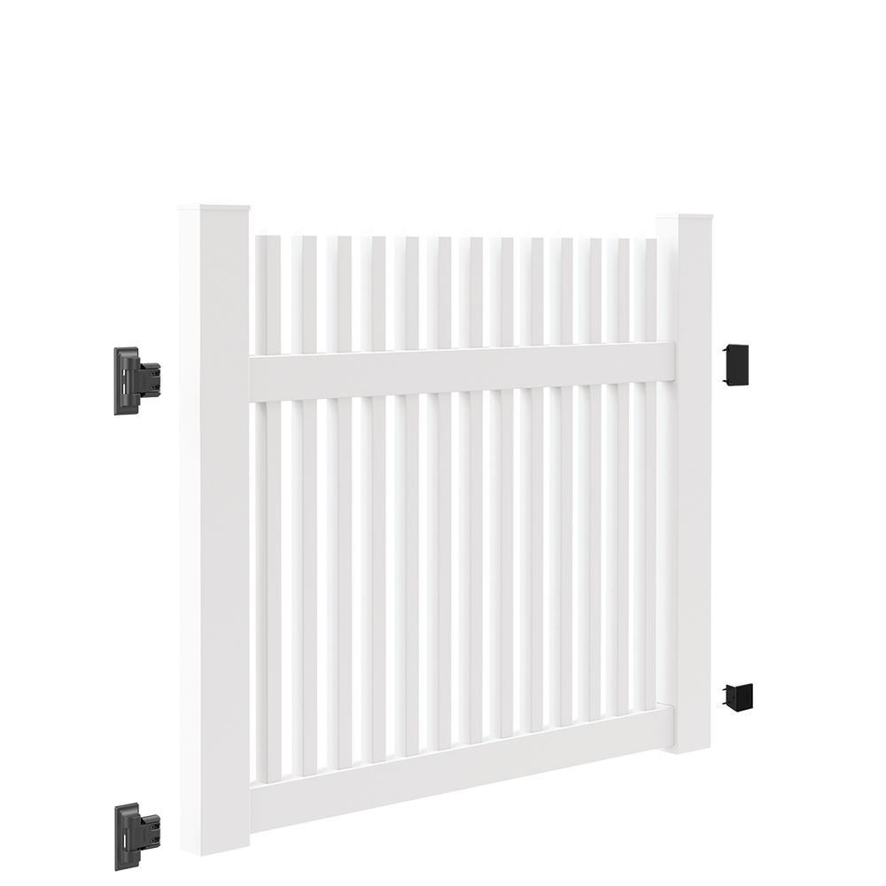 Ottawa Straight 5 ft. W x 4 ft. H White Vinyl Un-Assembled Fence Gate