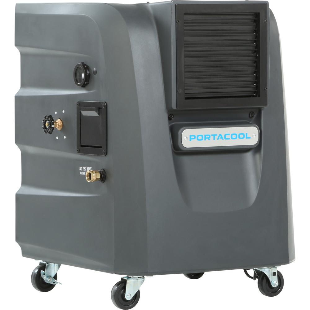 Port-A-Cool PORTACOOL Cyclone 120 2000 CFM 2-Speed Portable Evaporative Cooler for 500 sq. ft., Gray