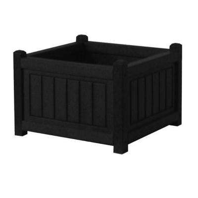 Nantucket 17 in. x 17 in. Black Recycled Plastic Commercial Grade Planter Box