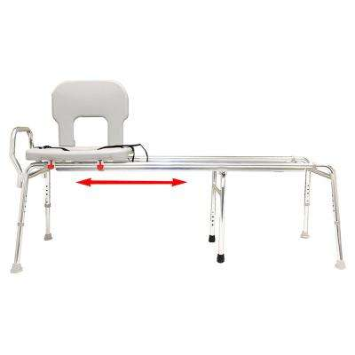 Toilet-to-Tub Sliding Transfer Bench - Long (Base Length: 53.5 in. to 54.25 in.) - 350 lb. Weight Capacity