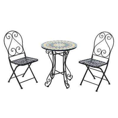3-Piece Metal Round Outdoor Bistro Set