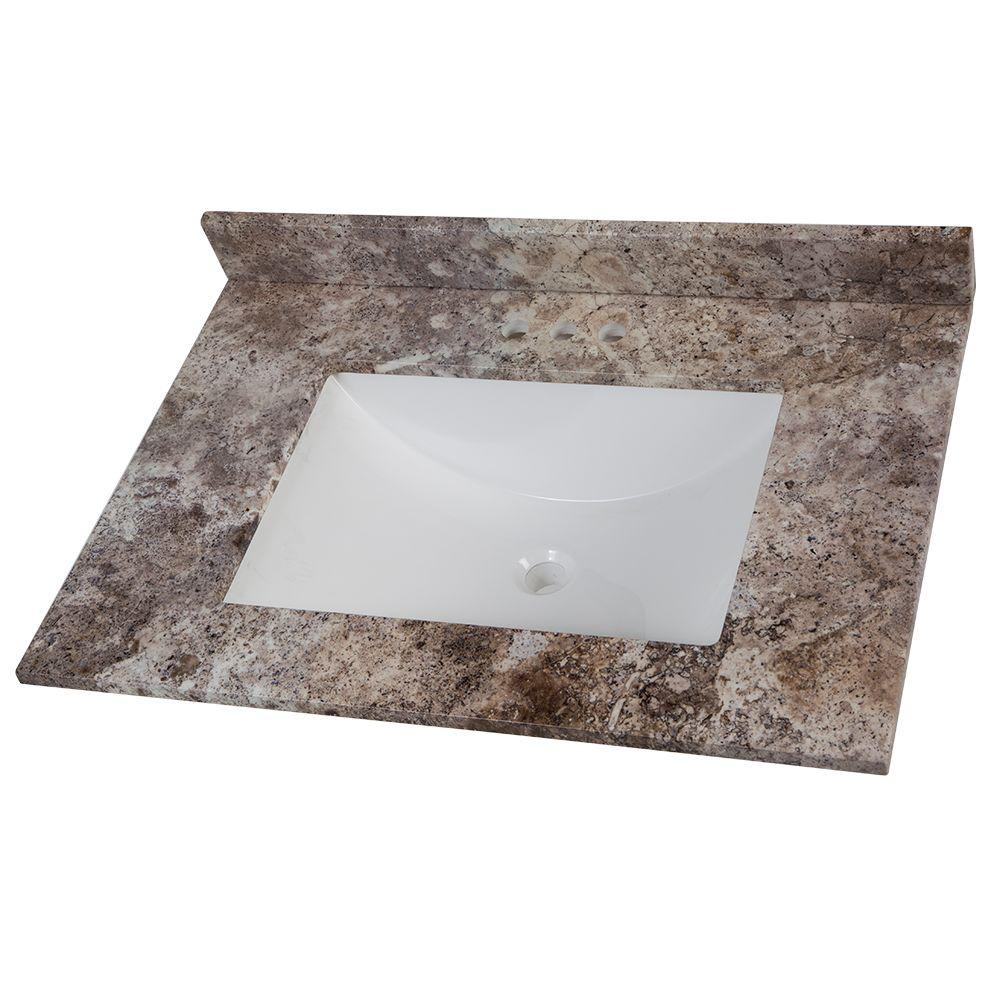31 in. W Stone Effects Vanity Top in Avalon